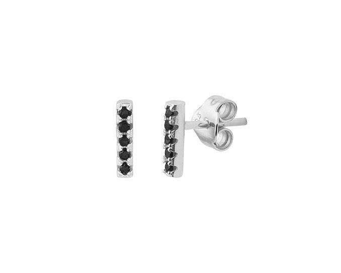 Earrings Black Zirkonia