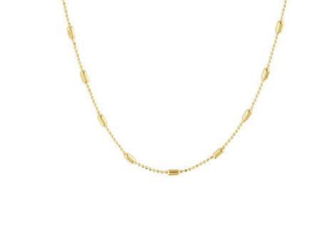 Necklace Tiny Rods  Gold