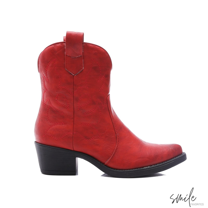 Musthave Dames Cowboy boots laag Rood Western Laarsjes