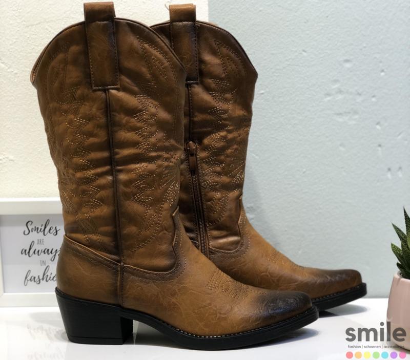 Musthave Dames Cowboy boots Camel Western Laarzen