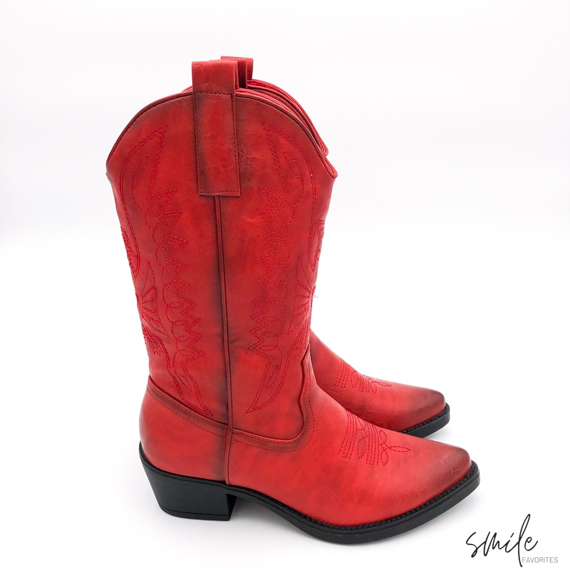 Musthave Dames Cowboy boots Rood Western Laarzen