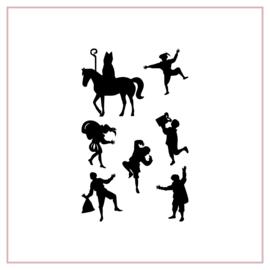 Raamstickers | Sinterklaas en pieten