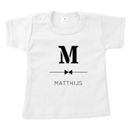 Letter met streep | naamshirt