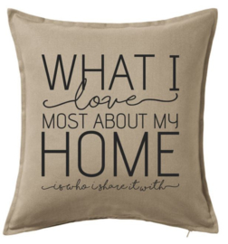 What I love most about my home | kussenhoes