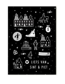 Minikaartje Liefs van Sint en Piet | Sinterklaas