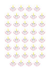 Unicorn sticker met naam