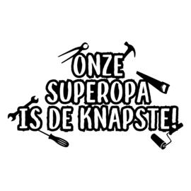 Knapste superopa   DIY-stickers vaderdag