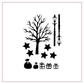 Raamstickers | Boom en cadeautjes