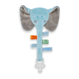 Labeldoekje olifant blauw