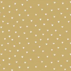 Kraft papier met witte hartjes | cadeaupapier