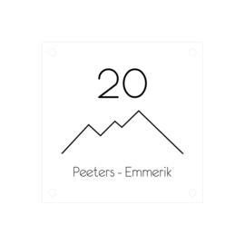 Naambordje berg | plexiglas