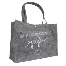 Deze tas is van een fantastische juf | vilten tas