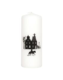 Kaars met tekst Grachtenpanden Sint en Piet | Sinterklaas
