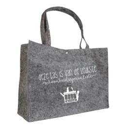 Deze tas is van de leukste schoonheidsspecialiste | vilten tas