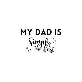 My dad is simply te best - hartjes | strijkapplicatie