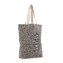 Luipaard print tas met naam | voor de juf