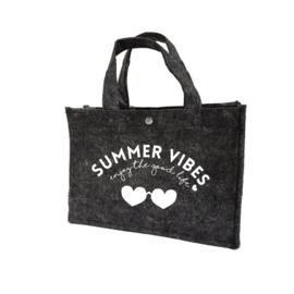 Summer vibes - hartjes | vilten kindertas