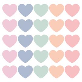 Hearts pastel   sticker