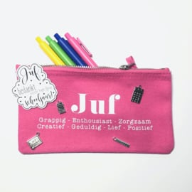 Etui juf | canvas etui