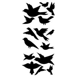 Vogelstickers raam