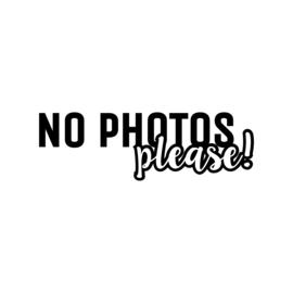 No photos please | strijkapplicatie