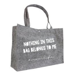 Nothing in this bag belongs to me | vilten tas
