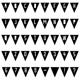 Vlaggetjes met letter   muursticker