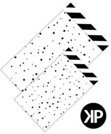 Inpakzakjes confetti day zwart/wit - 17 x 25 cm