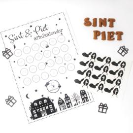 Stickers voor de Sint en Piet aftelkalender