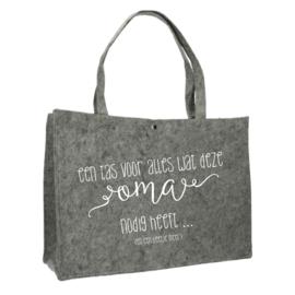 Een tas voor oma | vilten tas