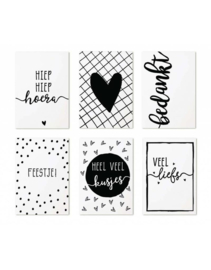 Set minikaartjes (6) | cadeaukaartje