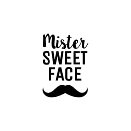 Mister sweet face | strijkapplicatie