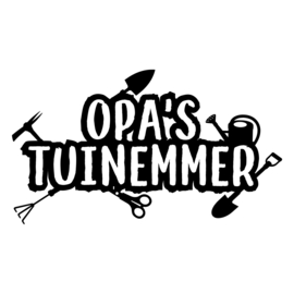 Opa's tuinemmer | DIY-stickers vaderdag