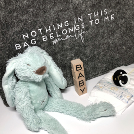 Momlife - nothing in this bag belongs to me | vilten tas