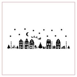Raamstickers | Kerststraatje