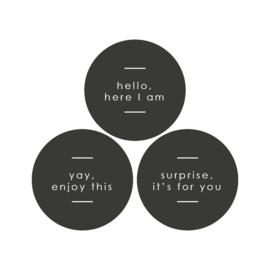 Multi - hello/for you / enjoy | sticker