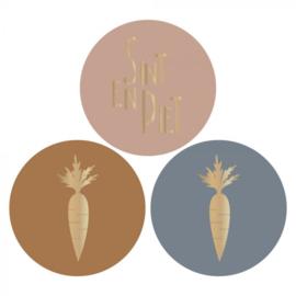 Sint-stickers wortel/tekst   sticker