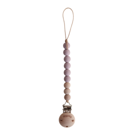 Speenketting Mauve / wood | Mushie