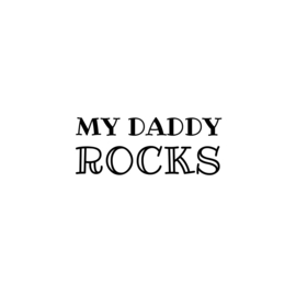 My daddy rocks | strijkapplicatie