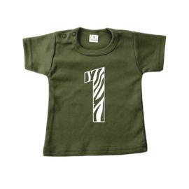Leeftijdsshirt 1 jungle | shirt