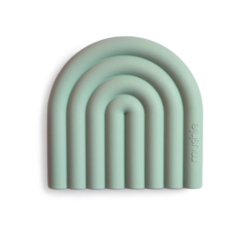 Bijtring Silicone Rainbow Cambridge Blue | Mushie