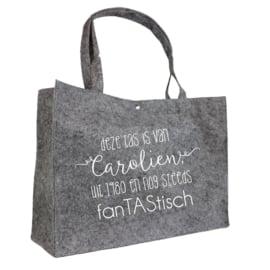Tas voor een fanTAStisch mens   vilten tas