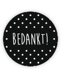 Bedankt | sticker