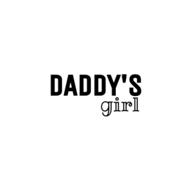 Daddy's girl | strijkapplicatie