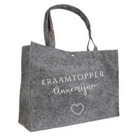 Kraamtopper - speels | vilten tas