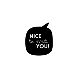 Nice to meet you | strijkapplicatie