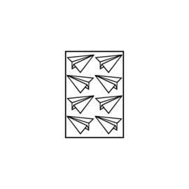Figuurtjes | 'papieren' vliegtuigjes (3 cm)