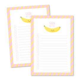 gaan met die banaan | notitieblok
