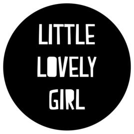 Little lovely girl   muursticker