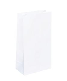 Papieren zak wit - maat M | blokbodemzak
